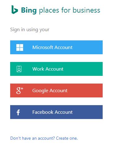 Create Bing Account