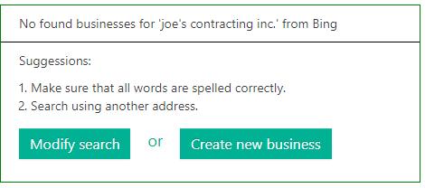 Create Bing Business